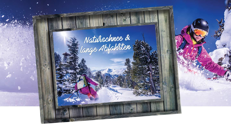 Skifahren und Tourengehen