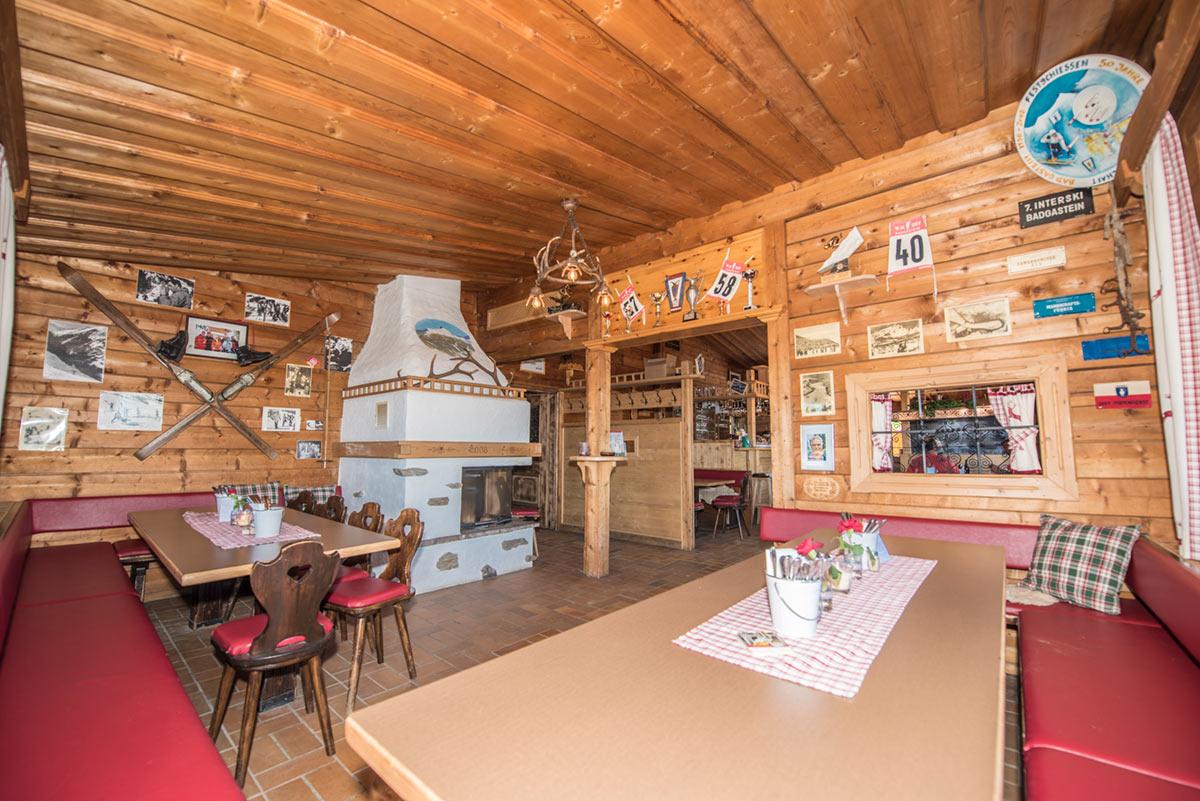 WM-Stüberl in der Graukogelhütte